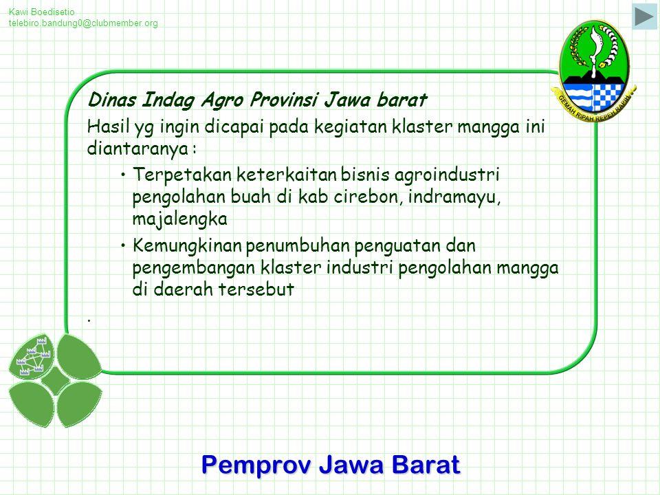 Pemprov Jawa Barat Dinas Indag Agro Provinsi Jawa barat