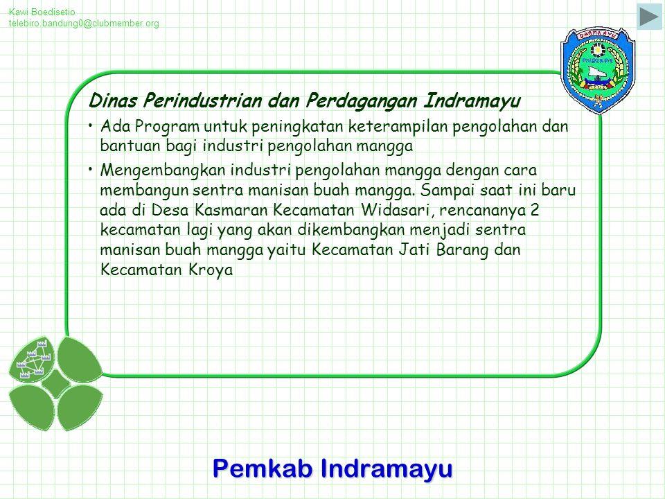 Pemkab Indramayu Dinas Perindustrian dan Perdagangan Indramayu