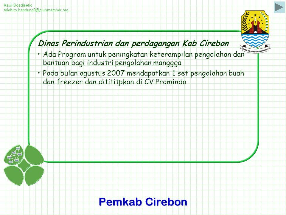 Pemkab Cirebon Dinas Perindustrian dan perdagangan Kab Cirebon