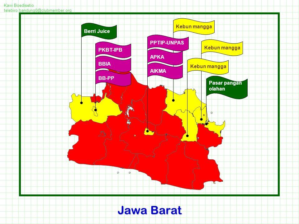Jawa Barat Kebun mangga Berri Juice PPTIP-UNPAS Kebun mangga PKBT-IPB