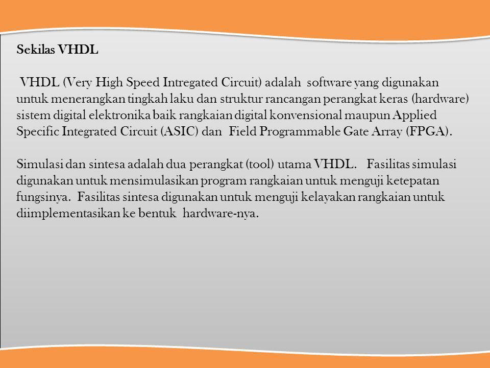 Sekilas VHDL