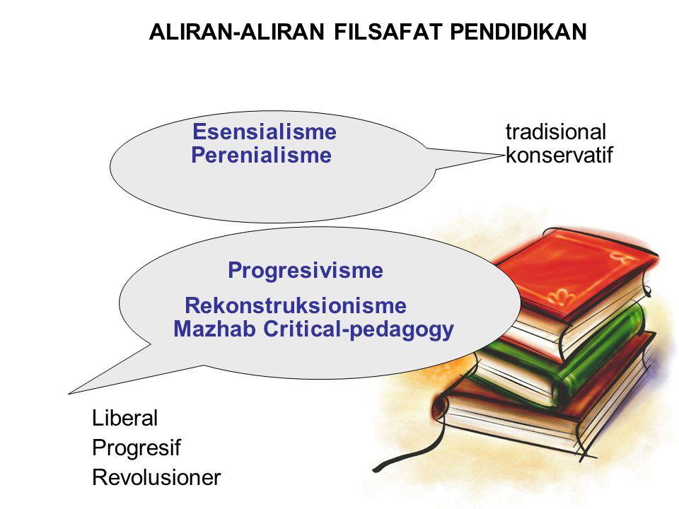 ALIRAN-ALIRAN FILSAFAT PENDIDIKAN