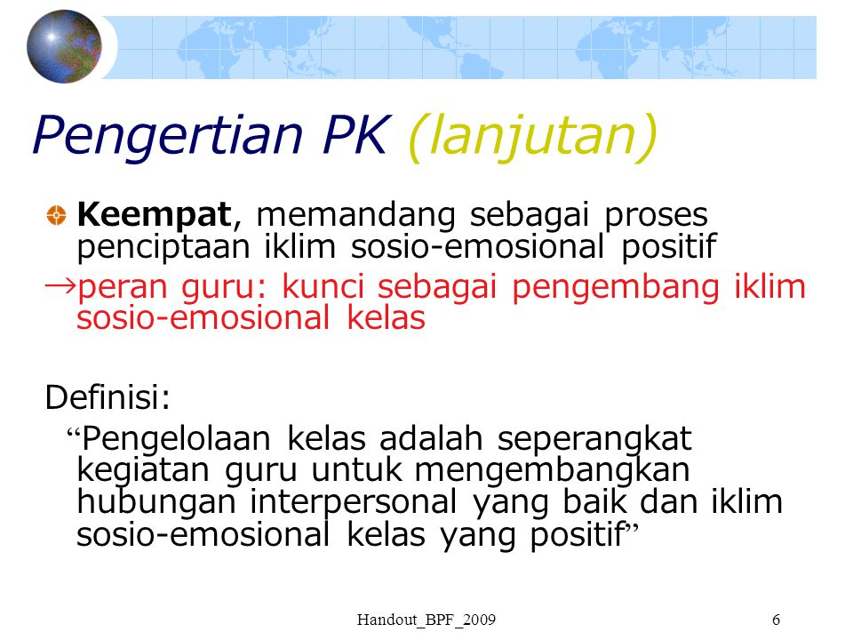 Pengertian PK (lanjutan)