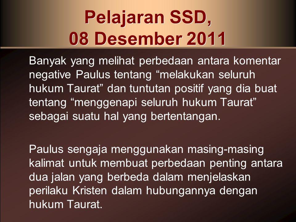 Pelajaran SSD, 08 Desember 2011