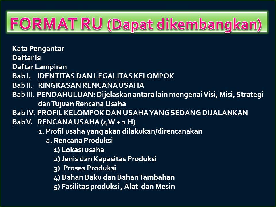 FORMAT RU (Dapat dikembangkan)