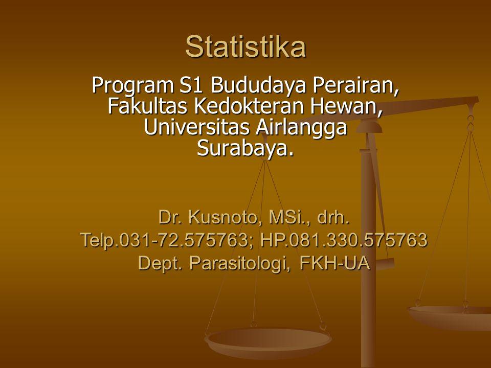 Statistika Program S1 Bududaya Perairan, Fakultas Kedokteran Hewan,
