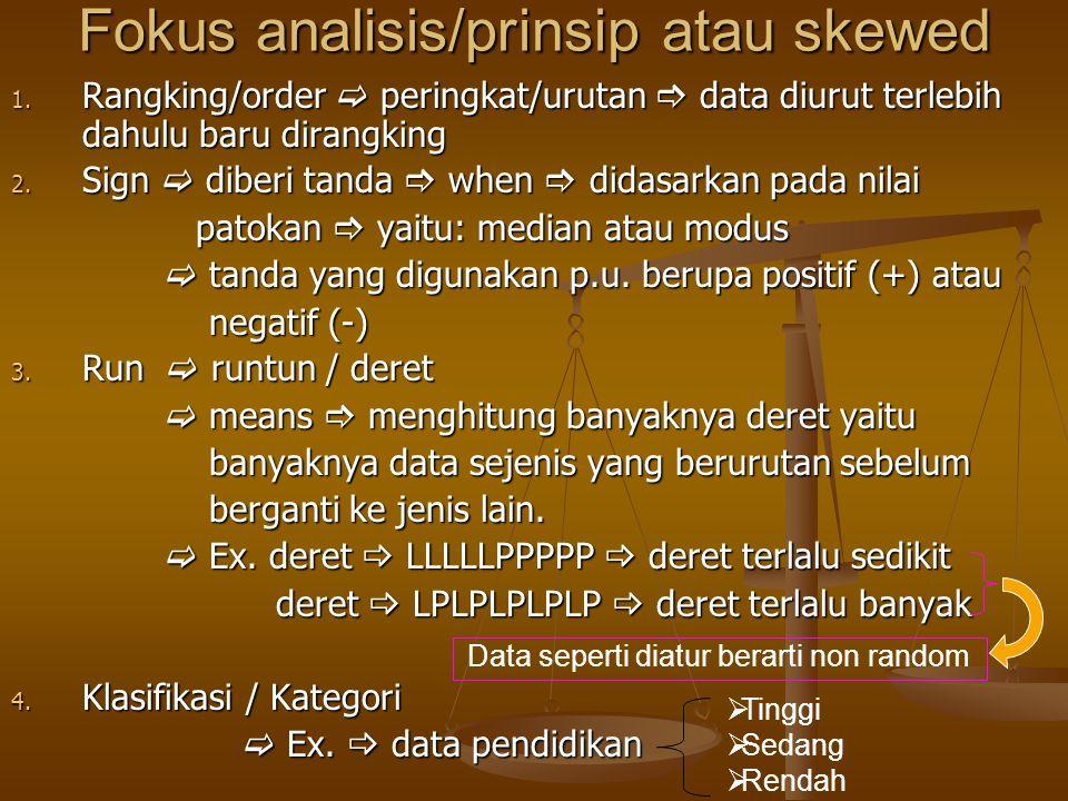 Fokus analisis/prinsip atau skewed