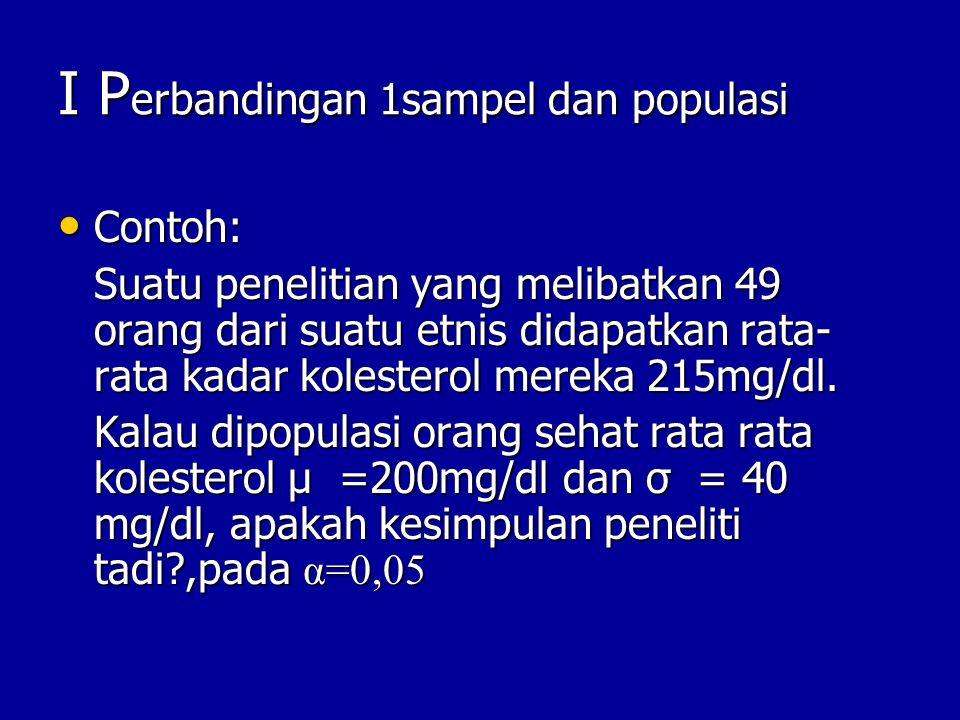 I Perbandingan 1sampel dan populasi