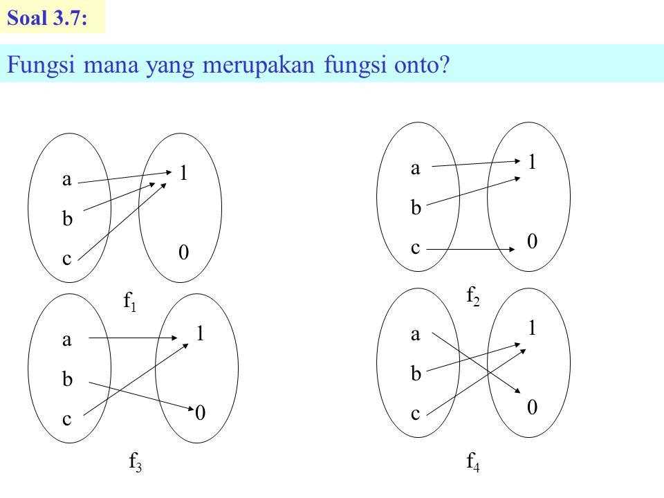 Fungsi mana yang merupakan fungsi onto