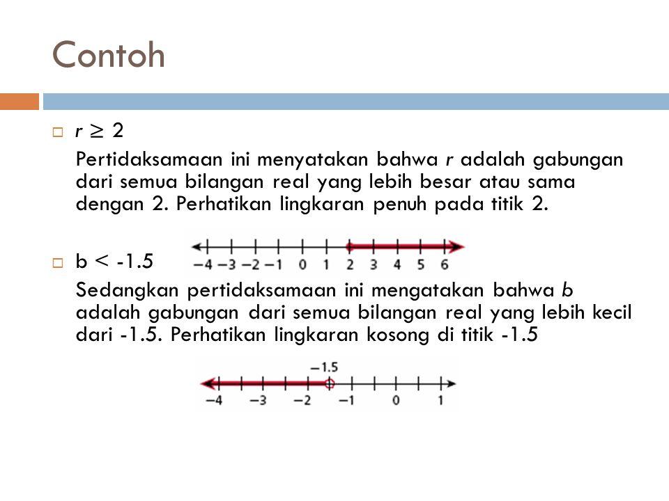 Contoh r ≥ 2.