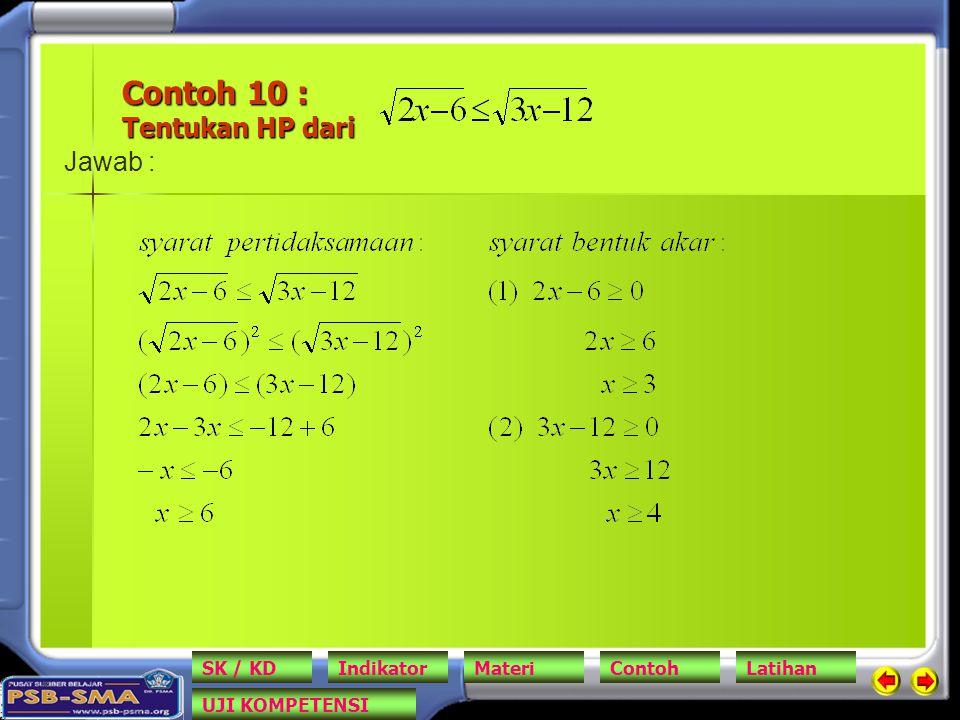 Contoh 10 : Tentukan HP dari