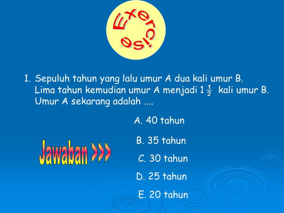 Exercise Jawaban >>>
