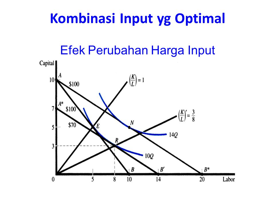 Kombinasi Input yg Optimal