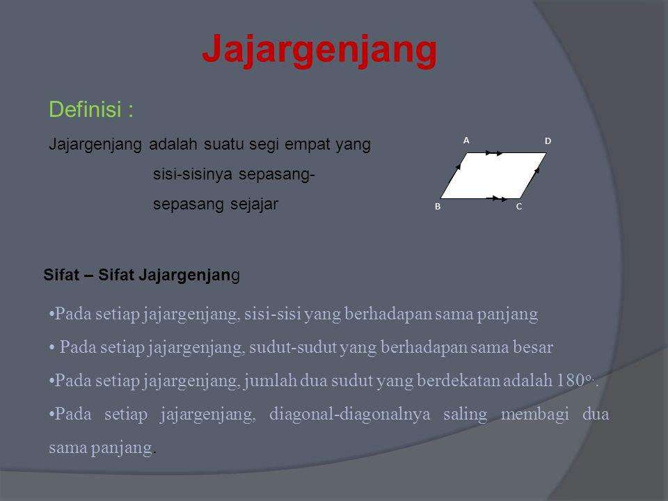 Jajargenjang Definisi :