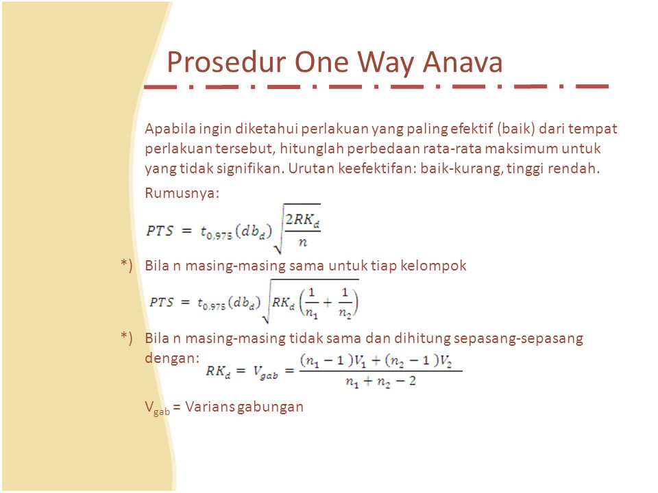 Prosedur One Way Anava