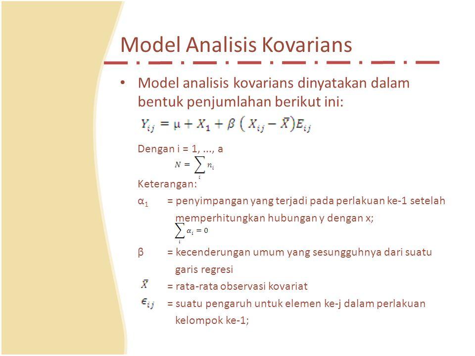 Model Analisis Kovarians