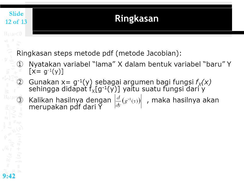 Ringkasan Ringkasan steps metode pdf (metode Jacobian):