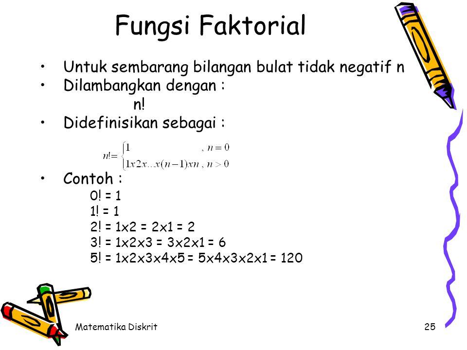 Fungsi Eksponensial Fungsi eksponensial berbentuk :