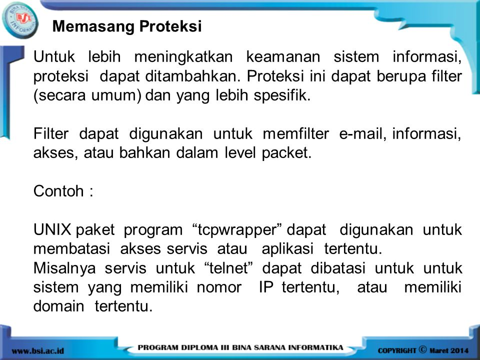Memasang Proteksi