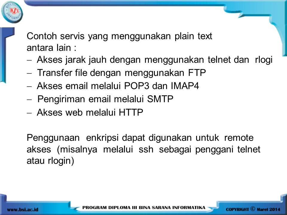 Contoh servis yang menggunakan plain text