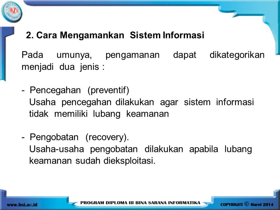 2. Cara Mengamankan Sistem Informasi