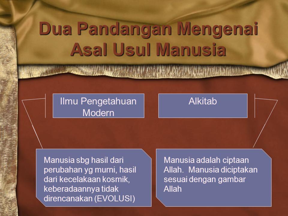 Dua Pandangan Mengenai Asal Usul Manusia
