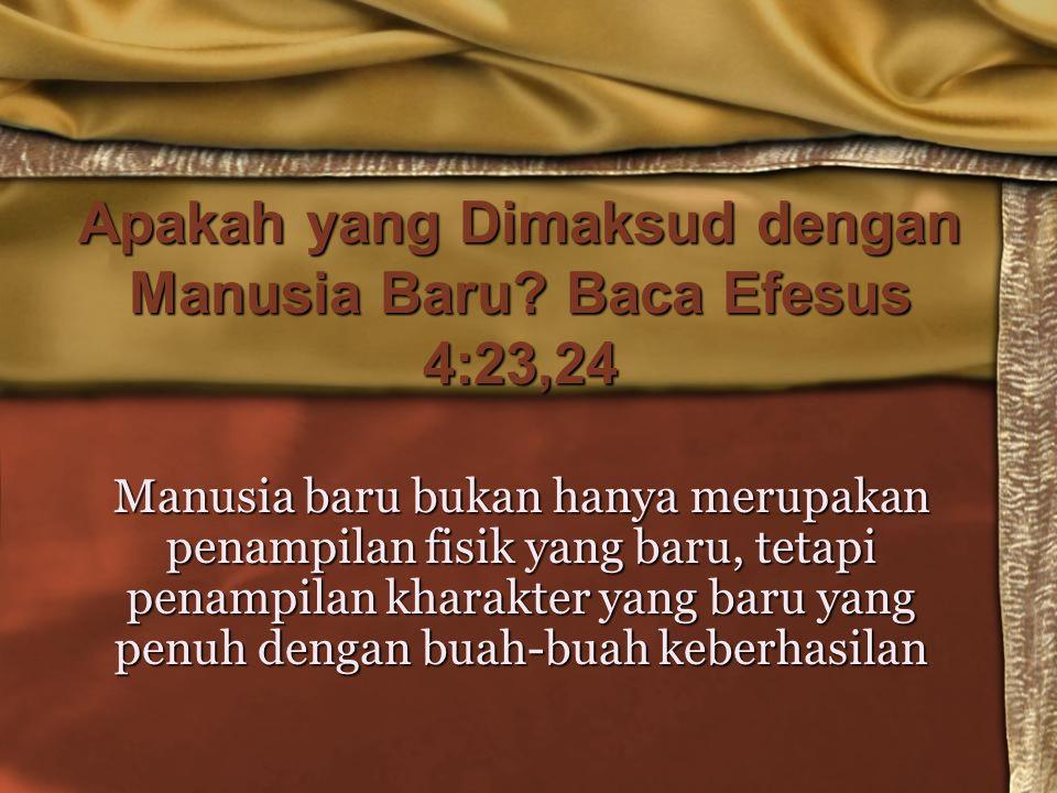 Apakah yang Dimaksud dengan Manusia Baru Baca Efesus 4:23,24