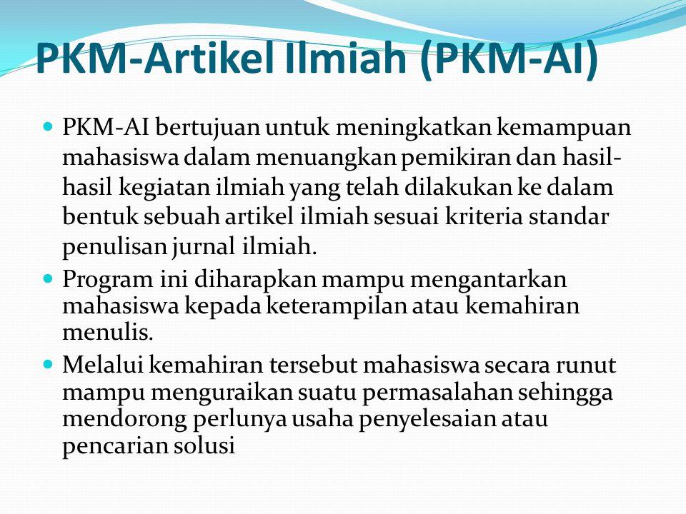PKM-Artikel Ilmiah (PKM-AI)