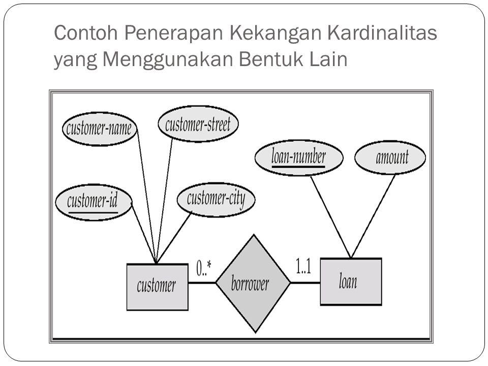 Contoh Penerapan Kekangan Kardinalitas yang Menggunakan Bentuk Lain