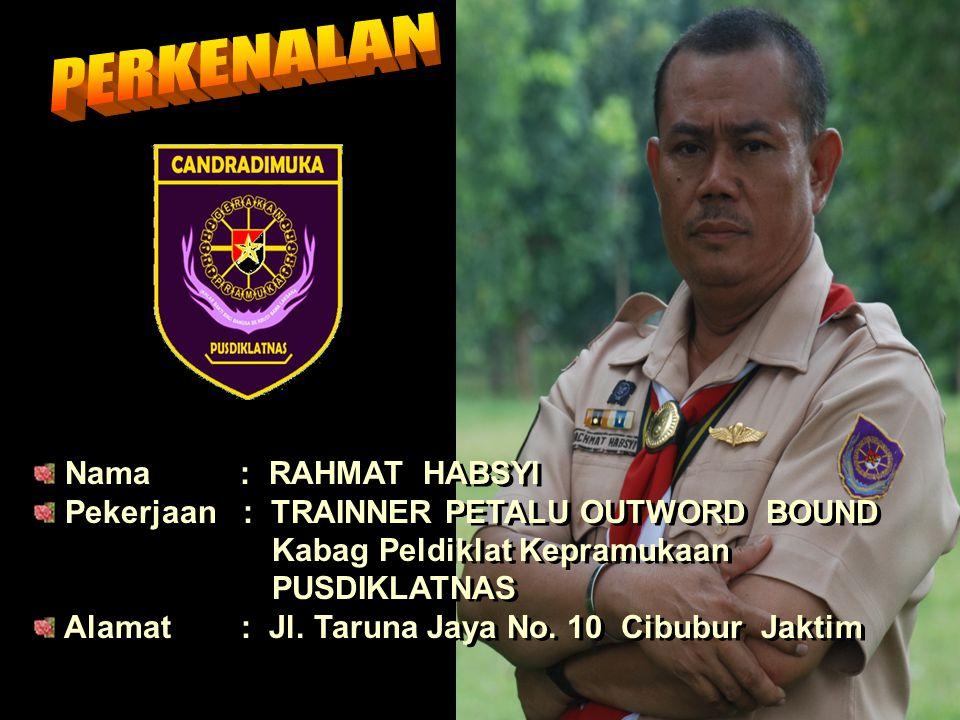 PERKENALAN Nama : RAHMAT HABSYI