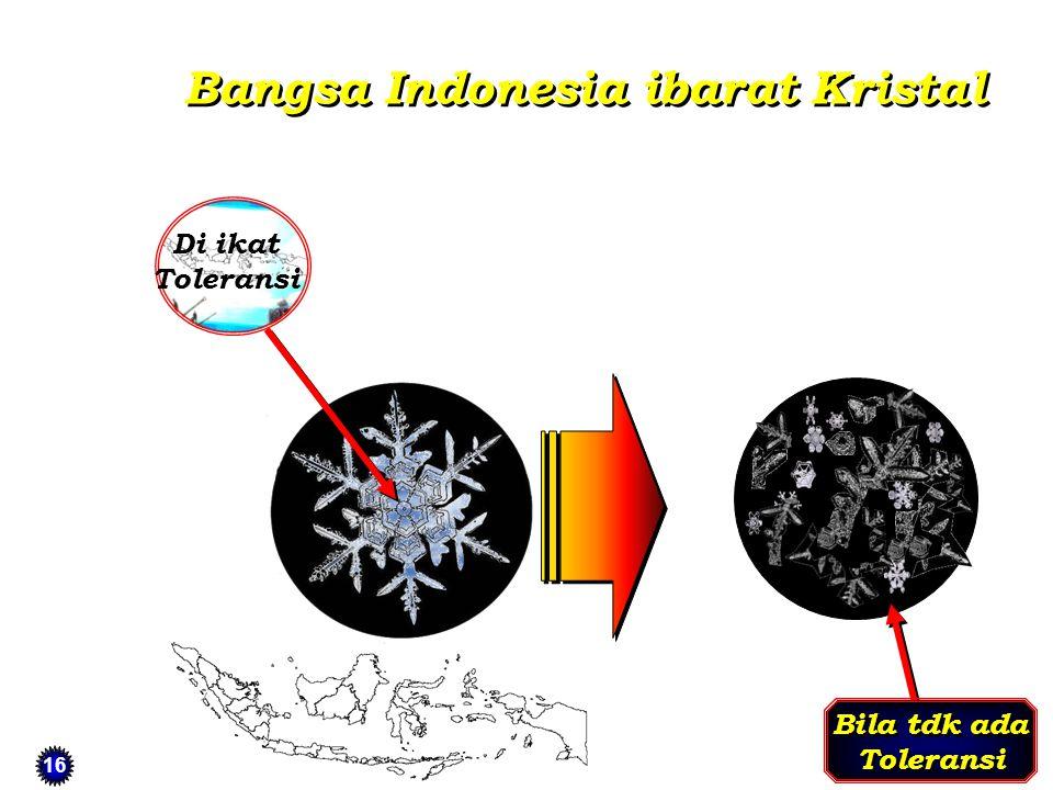 Bangsa Indonesia ibarat Kristal