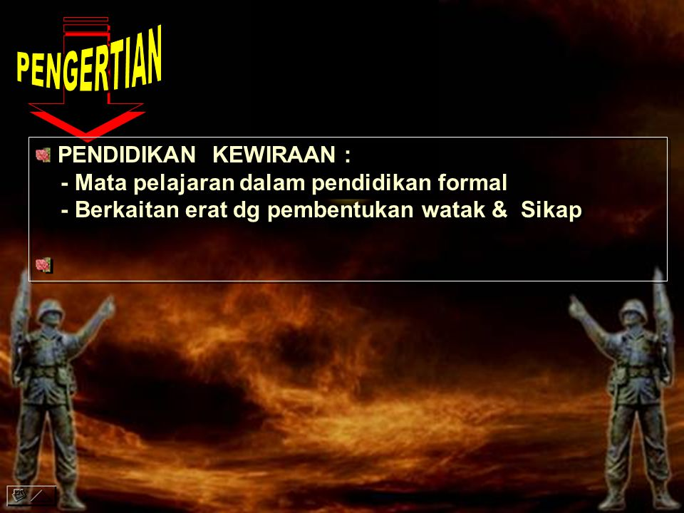 PENGERTIAN PENDIDIKAN KEWIRAAN :