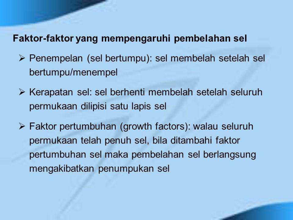 Faktor-faktor yang mempengaruhi pembelahan sel