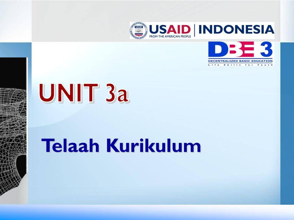 UNIT 3a Telaah Kurikulum