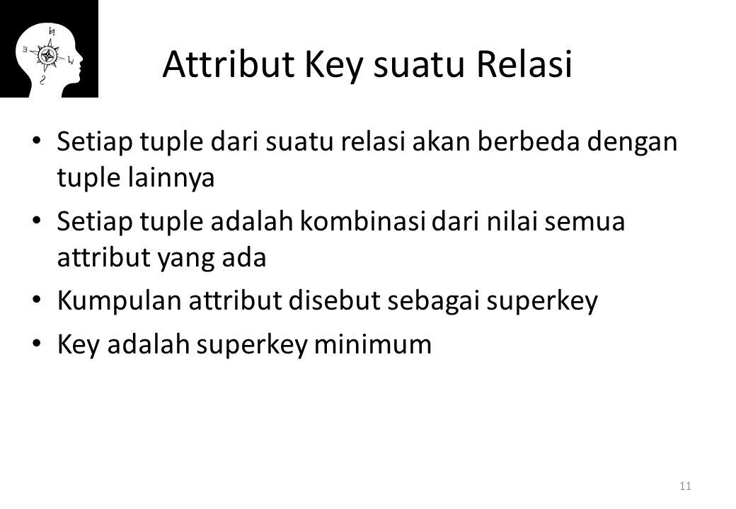 Attribut Key suatu Relasi