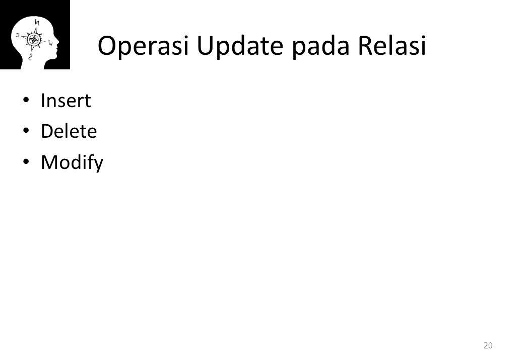 Operasi Update pada Relasi