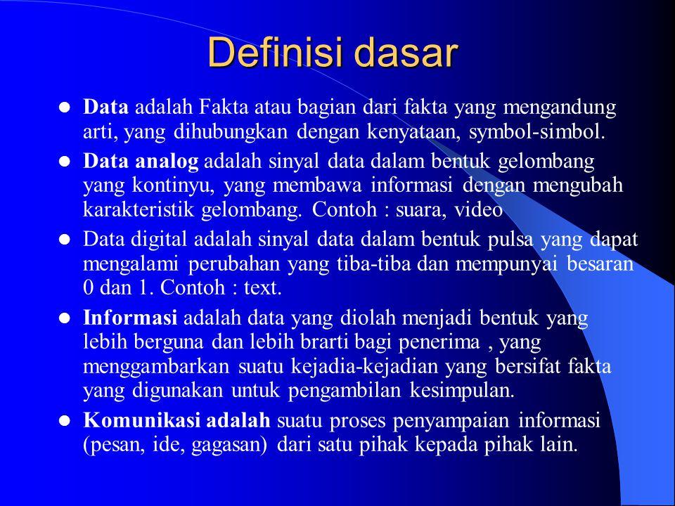 Definisi dasar Data adalah Fakta atau bagian dari fakta yang mengandung arti, yang dihubungkan dengan kenyataan, symbol-simbol.