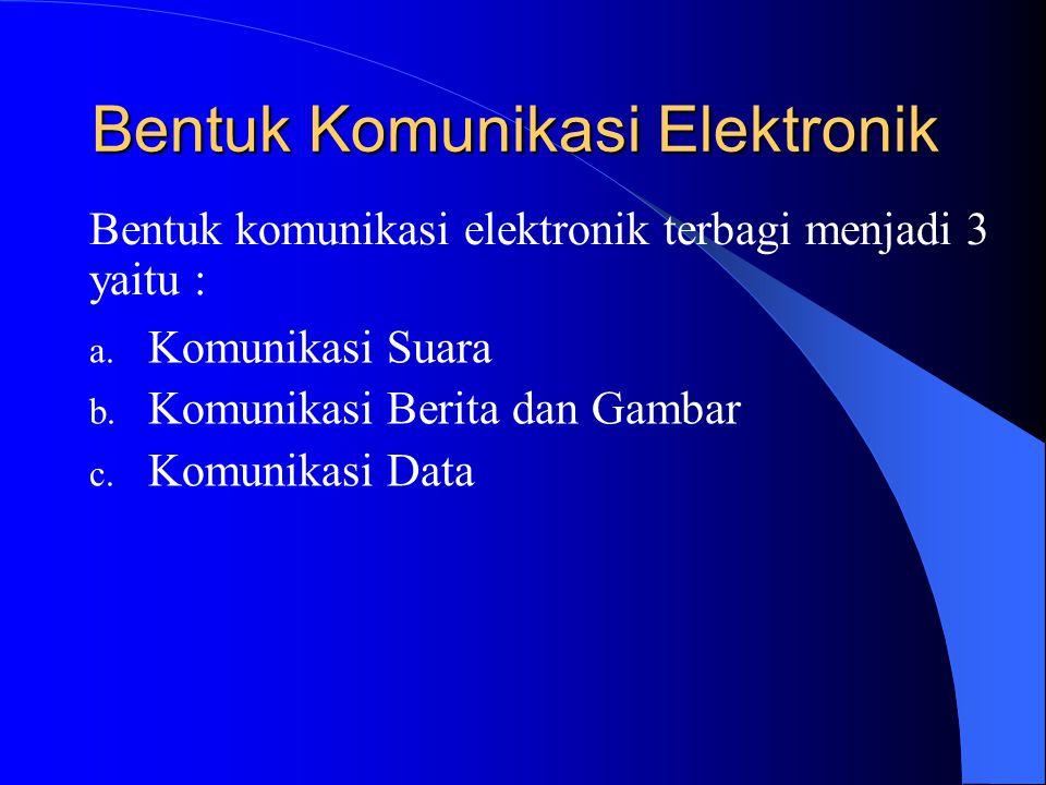 Bentuk Komunikasi Elektronik