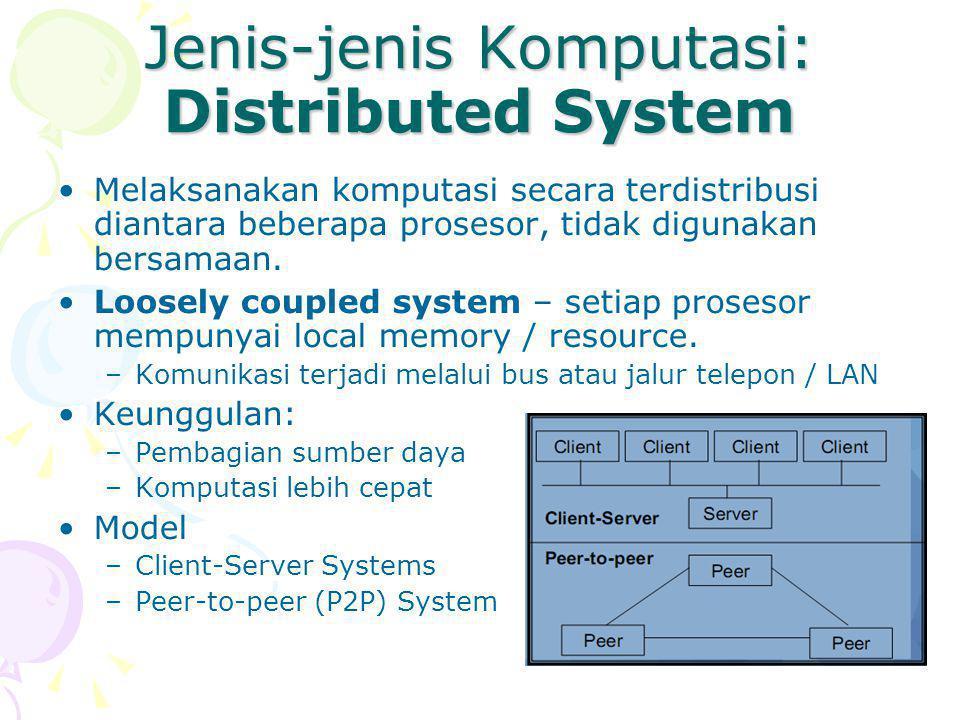 Jenis-jenis Komputasi: Distributed System