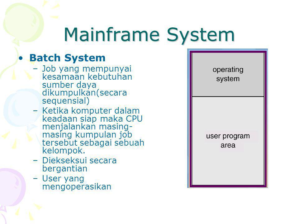 Mainframe System Batch System