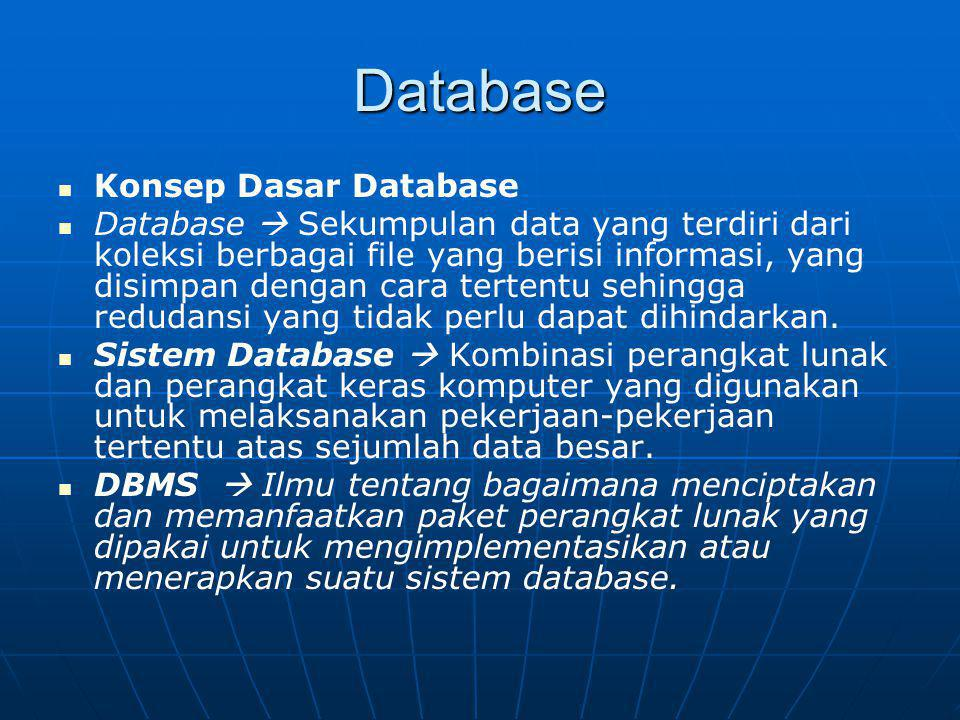 Database Konsep Dasar Database