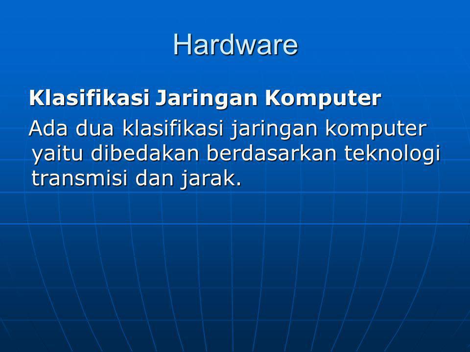 Hardware Klasifikasi Jaringan Komputer