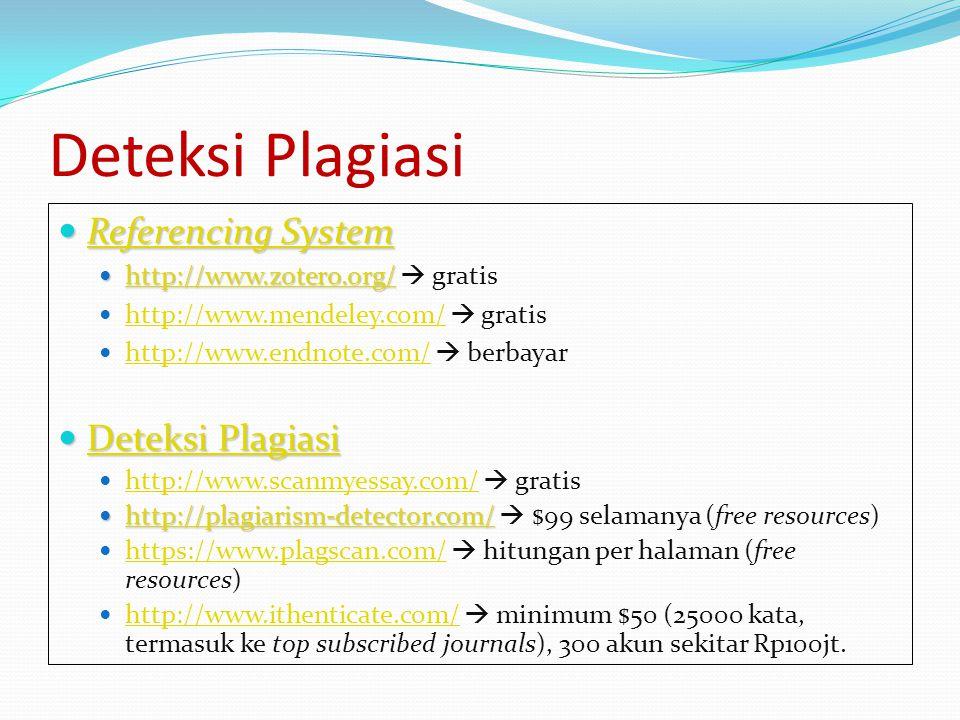 Deteksi Plagiasi Referencing System Deteksi Plagiasi