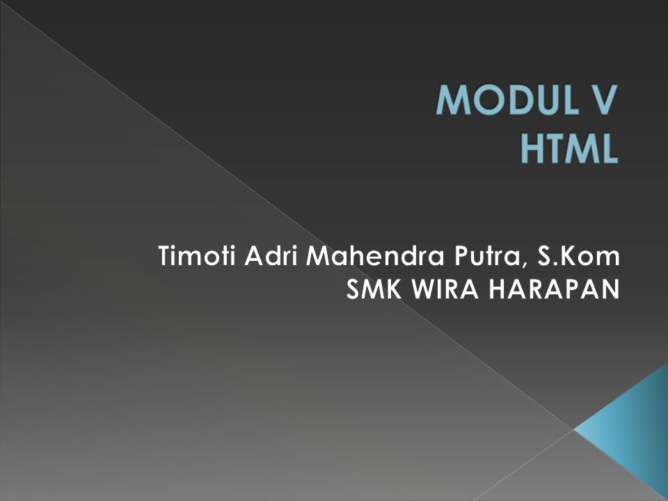 Timoti Adri Mahendra Putra, S.Kom SMK WIRA HARAPAN