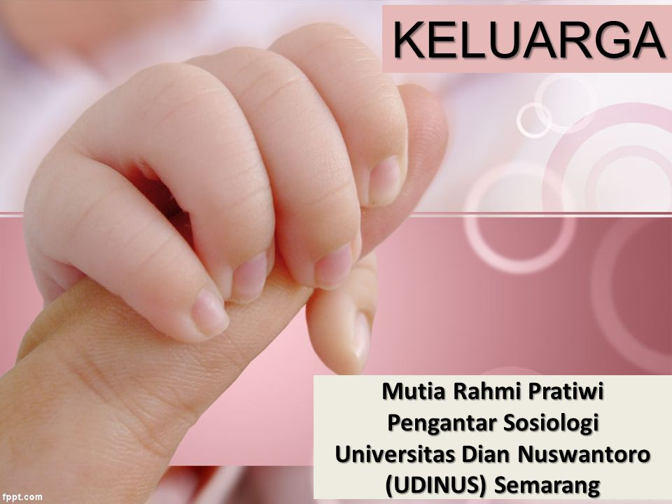 KELUARGA Mutia Rahmi Pratiwi Pengantar Sosiologi Universitas Dian Nuswantoro (UDINUS) Semarang