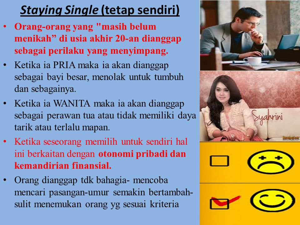 Staying Single (tetap sendiri)