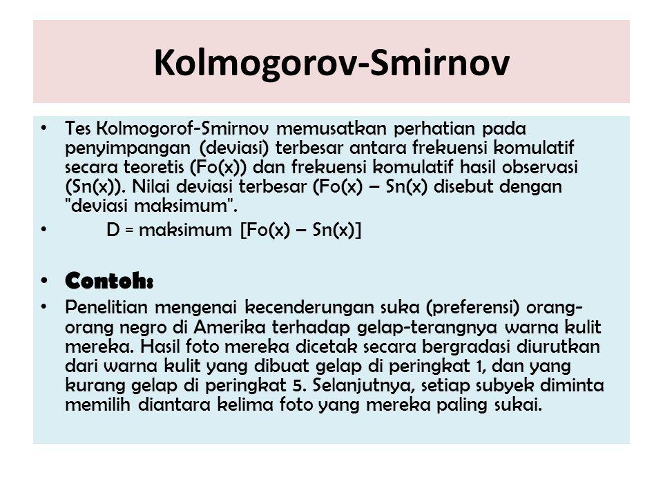 Kolmogorov-Smirnov Contoh: