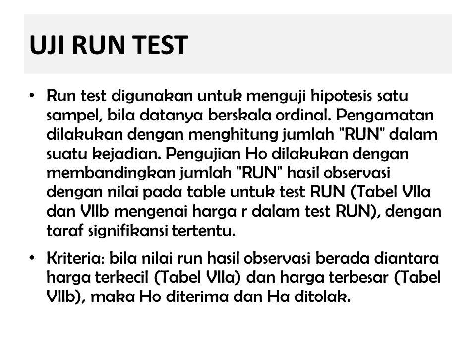 UJI RUN TEST
