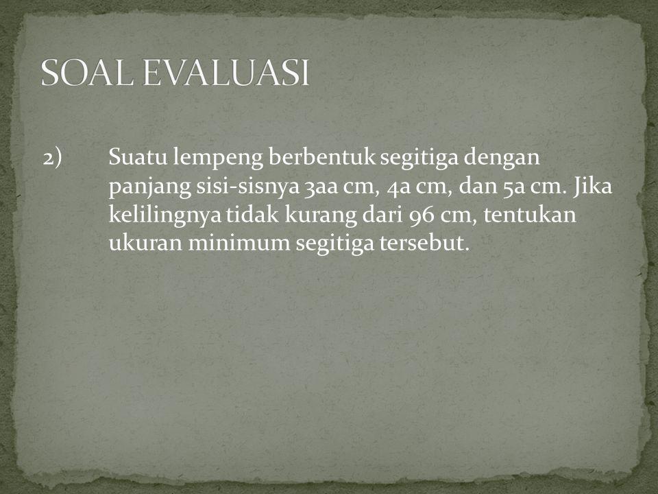SOAL EVALUASI
