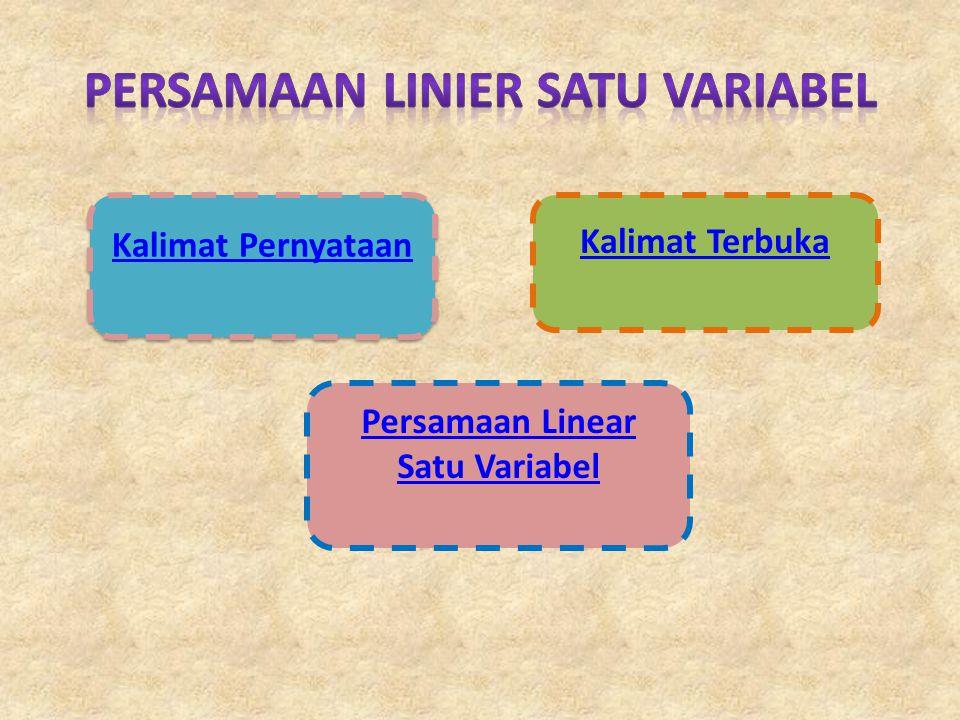 Persamaan Linier Satu Variabel